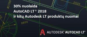 """Tik iki birželio 21 d. - 30% nuolaida """"AutoCAD LT"""" šeimos produktams"""