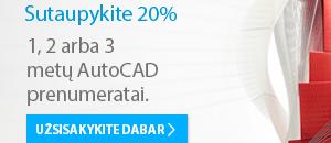 AutoCAD programos nuomai - 20 % nuolaida. Tik iki sausio 16 d.