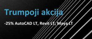 Tik 1 savaitę 25 % nuolaida AutoCAD LT, Revit LT, Maya LT