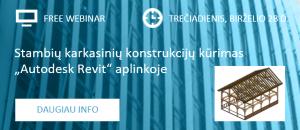 """""""Stambių karkasinių konstrukcijų kūrimas """"Autodesk Revit"""" aplinkoje"""" – nemokamas WEBINARAS birželio 28 d."""