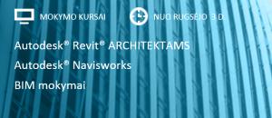 """Naujas mokymo kursų sezonas: 2018 m. rudenį renkamos """"Autodesk Revit"""", """"Autodesk Navisworks"""", BIM mokymų grupės"""