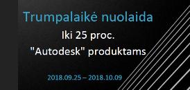 """Tik iki spalio 9 dienos  - 25 proc. nuolaida """"Autodesk"""" produktams"""