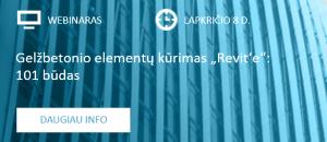 """Webinaras """"Revit"""" naudotojams: """"Gelžbetonio elementų kūrimas """"Revit'e"""": 101 būdas"""""""