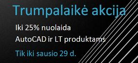 "Iki 25 proc. nuolaida ""Autodesk"" produktams"