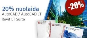 """Iki 25 % nuolaidos """"AutoCAD"""", """"AutoCAD LT"""", """"Revit LT Suite"""" produktams rugpjūčio 27-30 dienomis"""