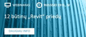 """12 plėtinių, reikalingų """"Revit"""" naudotojams kasdien – rugsėjo 19 d. webinare"""