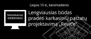 """Lengviausias būdas pradėti karkasinių pastatų projektavimą """"Revit'e"""" [Seminaras internetu]"""