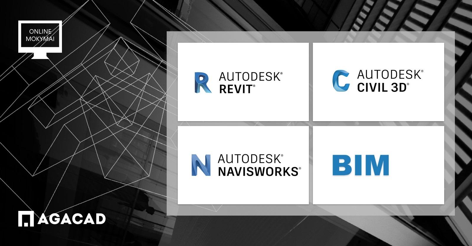 Civil 3D, NAvisworks, BIM online mokymo kursai