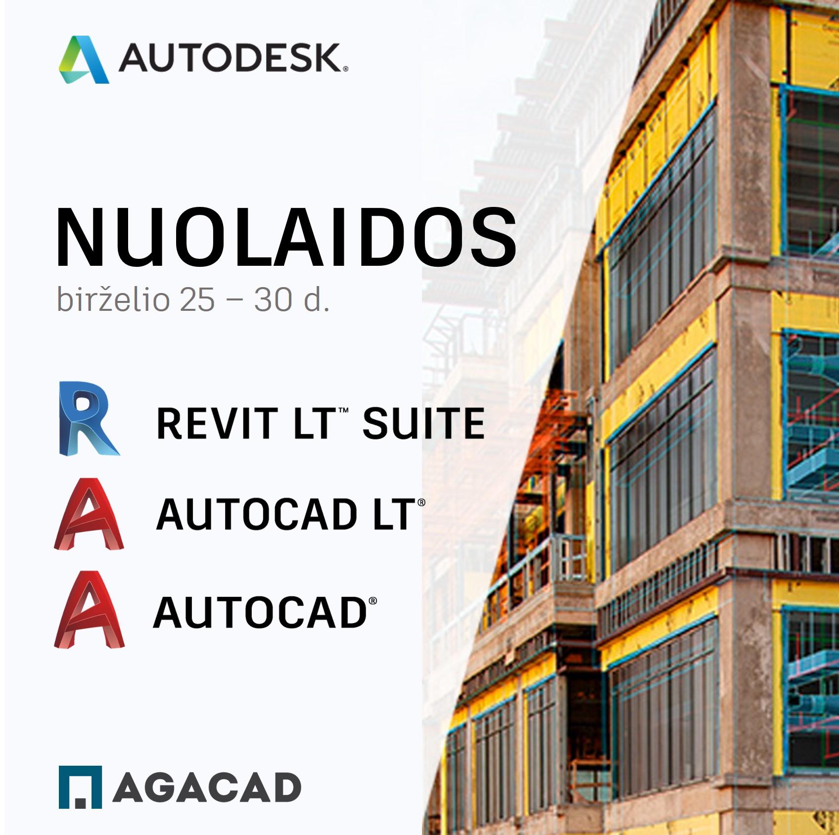 Revit, Revit LT, AutoCAD. AutoCAD LT kaina, nuoma | AGACAD