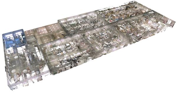 Lazeriniu skeneriu nuskenuoto statinio vaizdas  AGACAD