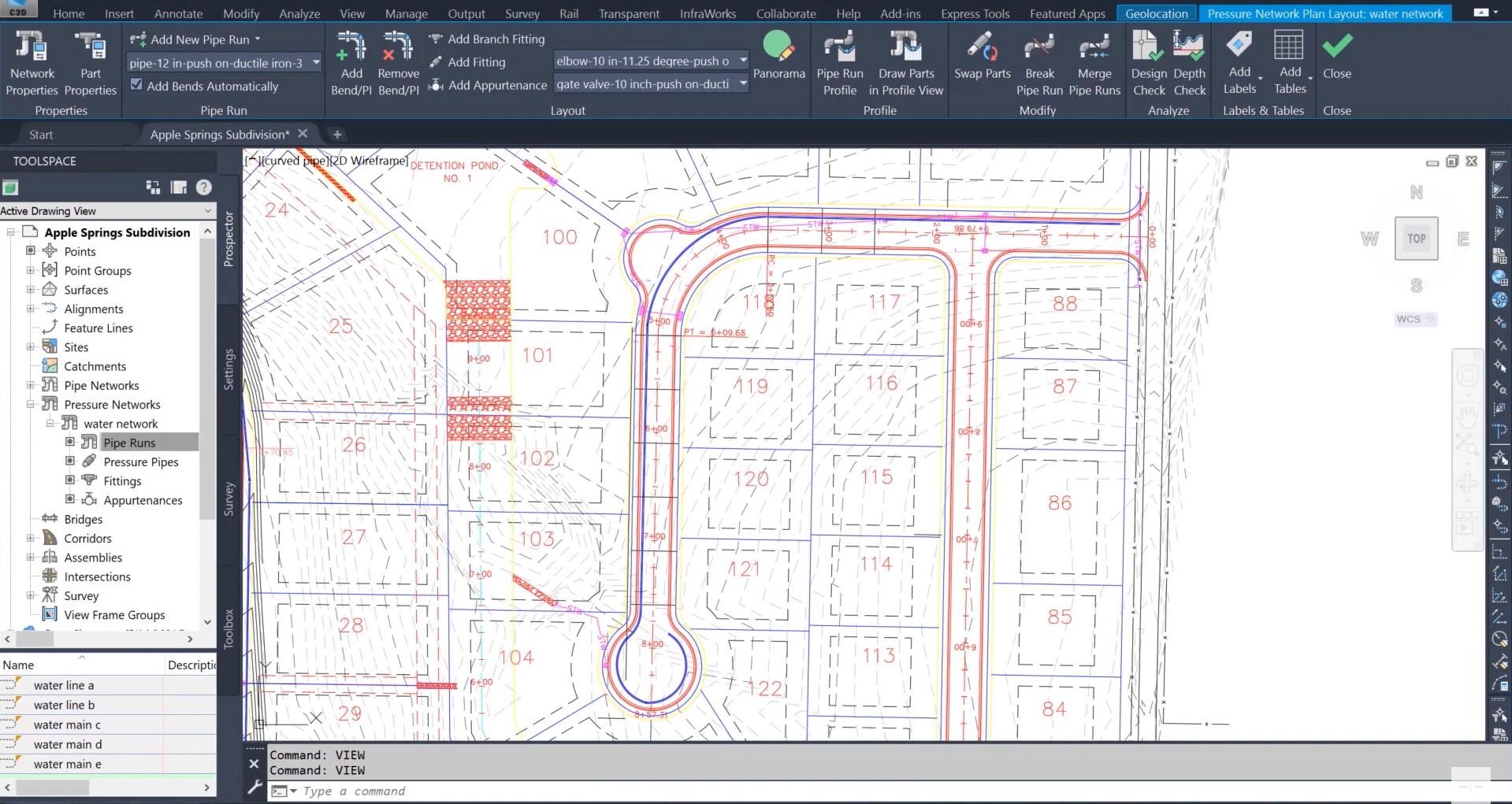 Autodesk Civil 3D 2021 naujovė - kreivės, vamzdžių geometrija | AGACAD