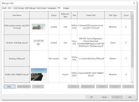 PDF failų ir iliustracijų lengvas valdymas Revit 2021 projekte | AGACAD