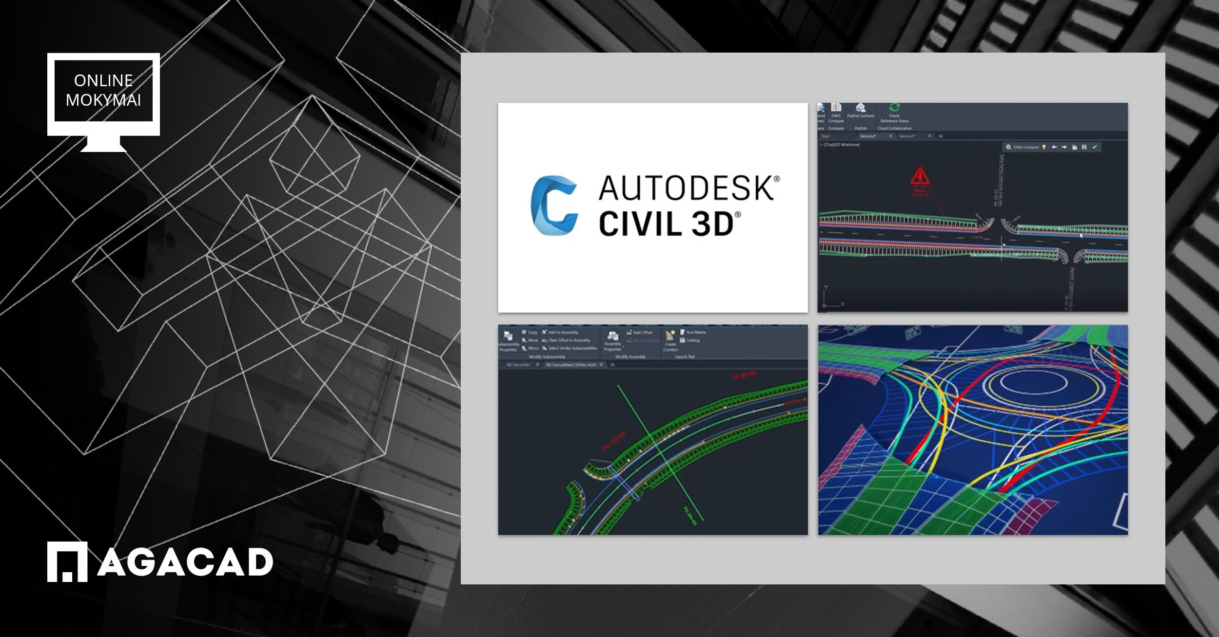 Civil 3D civilinės inžinerijos specialistams mokymai