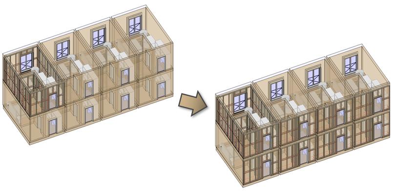 Kaip lengvai kurti pastatų modulius su mediniu karkasu Revit modelyje | AGACAD
