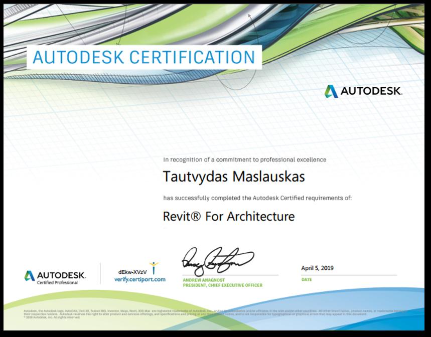 Autodesk sertifikatas